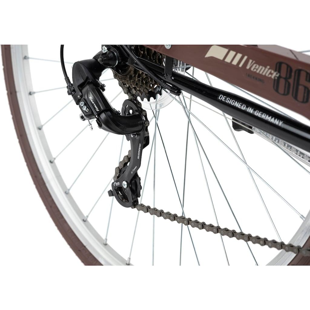 KS Cycling Trekkingrad »Venice«, 21 Gang, Shimano, Tourney Schaltwerk, Kettenschaltung