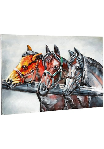 Home affaire Metallbild »3D Horses« kaufen