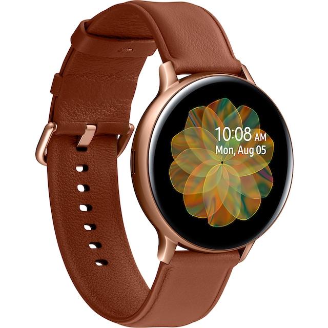 Samsung Galaxy Watch Active2 Edelstahl, 44 mm, LTE & Bluetooth (SM-R825) Smartwatch (3,4 cm / 1,4 Zoll)
