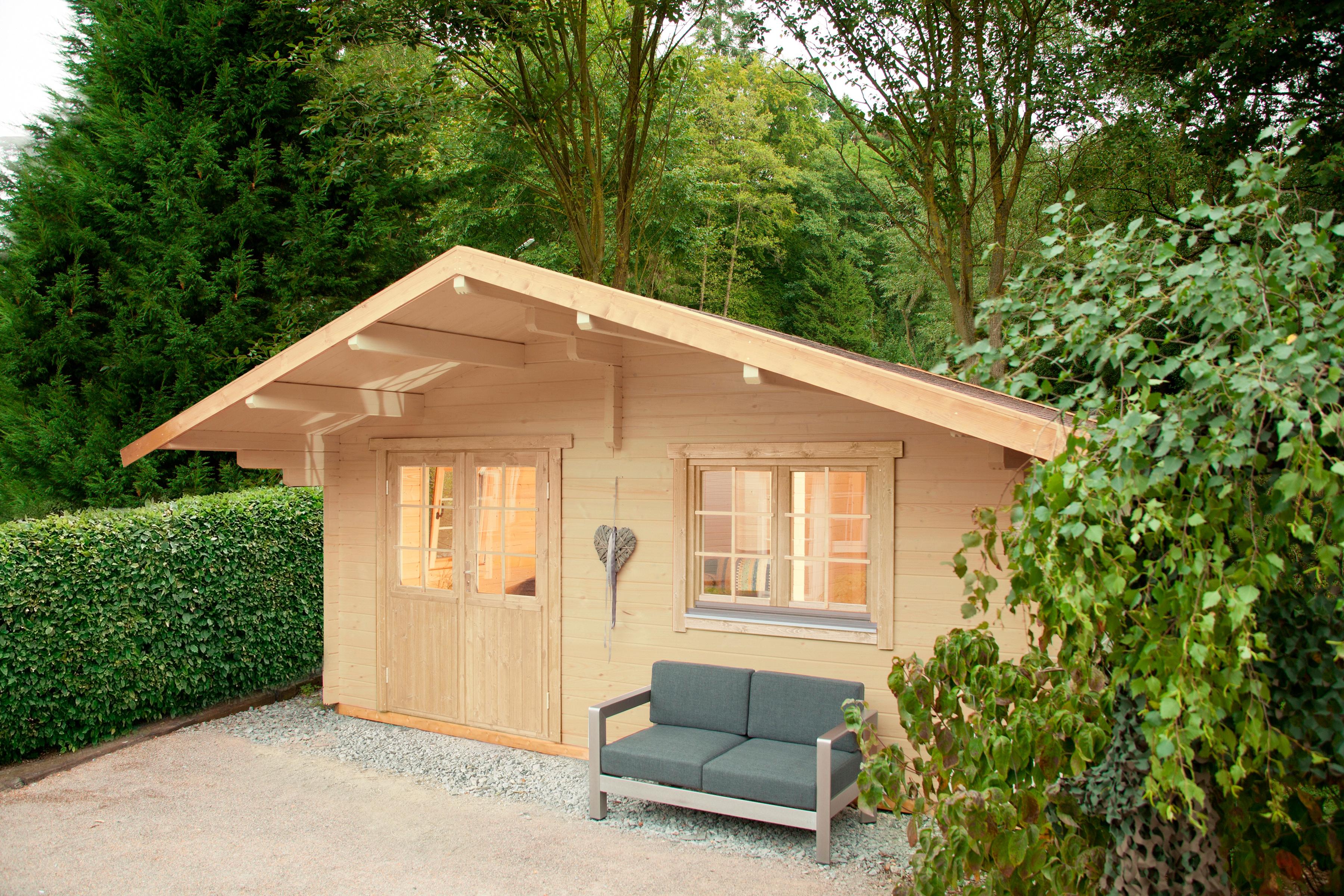 WOLFF FINNHAUS Gartenhaus »Lappland 70-A XL«, BxT: 550x640 cm, inkl. Fußboden | Garten > Bodenbeläge-Garten | Fichte - Hölzer | WOLFF FINNHAUS