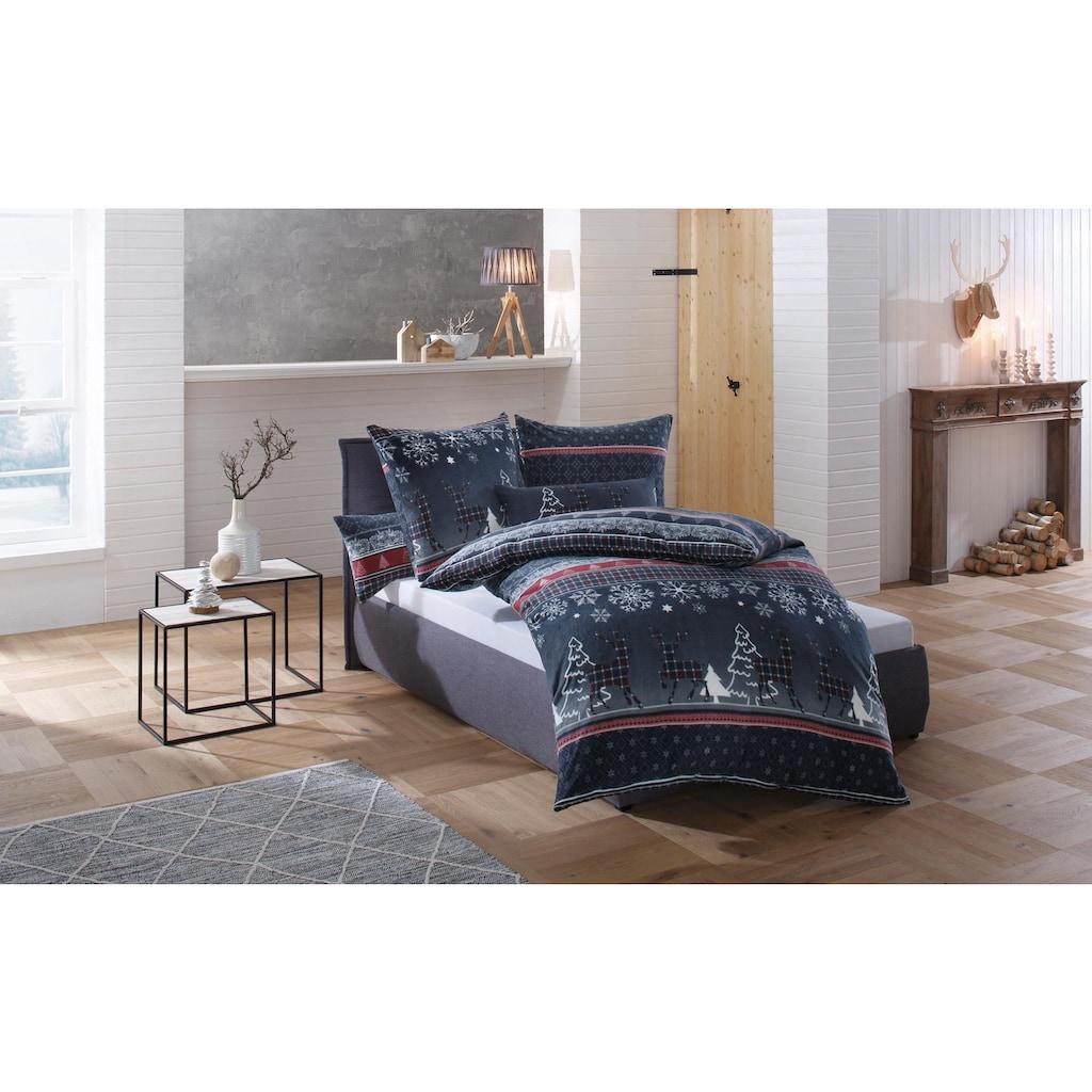 my home Bettwäsche »Chrissy«, in kuschelig warmer Fleece-Qualität