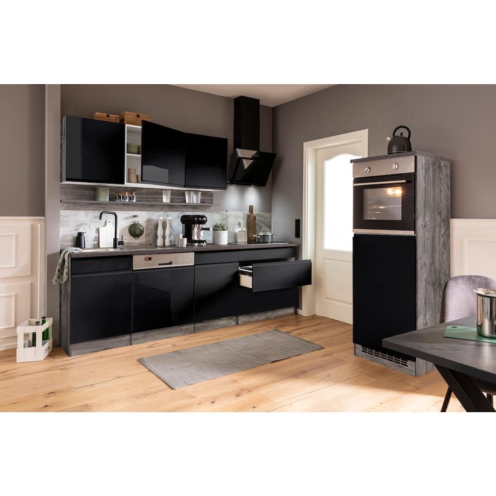 HELD MÖBEL Küchenzeile »Virginia«, mit E-Geräten, Breite 300 cm