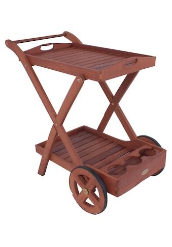 Garden Pleasure Servierwagen »Toledo«, Eukalyptusholz, 88x54 cm, rollbar kaufen