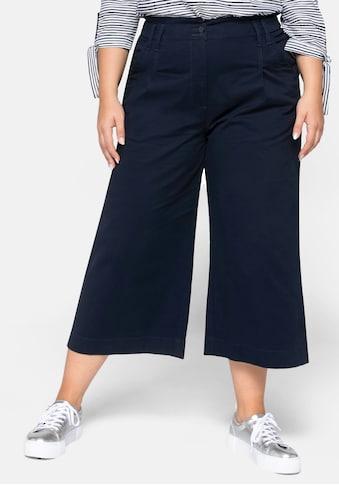 Sheego Culotte, mit modischer Bundfalte kaufen