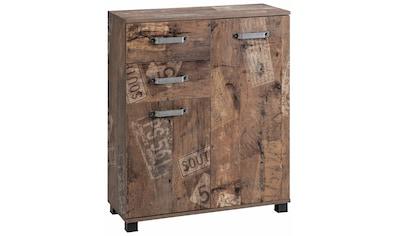 Schildmeyer Badkommode »Milan«, Breite 80,5 cm, mit 2 Türen, 2 Schubladen & Metallgriffen kaufen