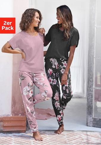 Vivance Dreams Pyjama, (2 Stück), mit Blumendruck kaufen