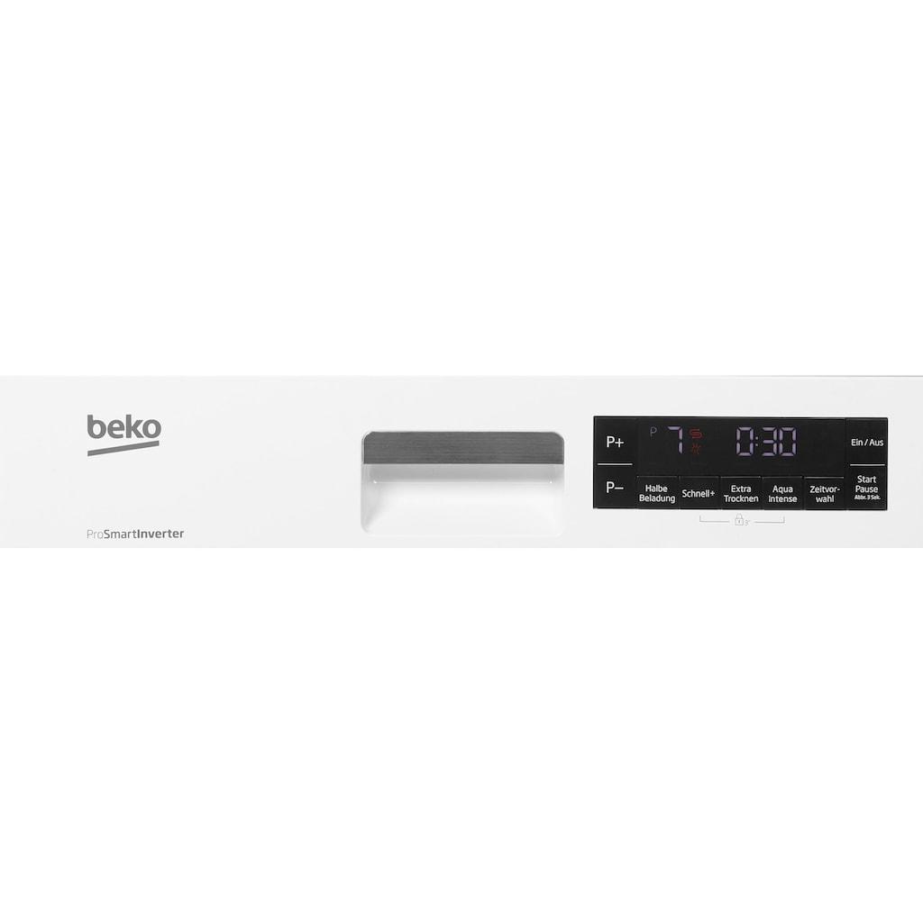 BEKO Standgeschirrspüler »DFS28021W«, DFS28021W, 10 Maßgedecke, mit Kontrollanzeige