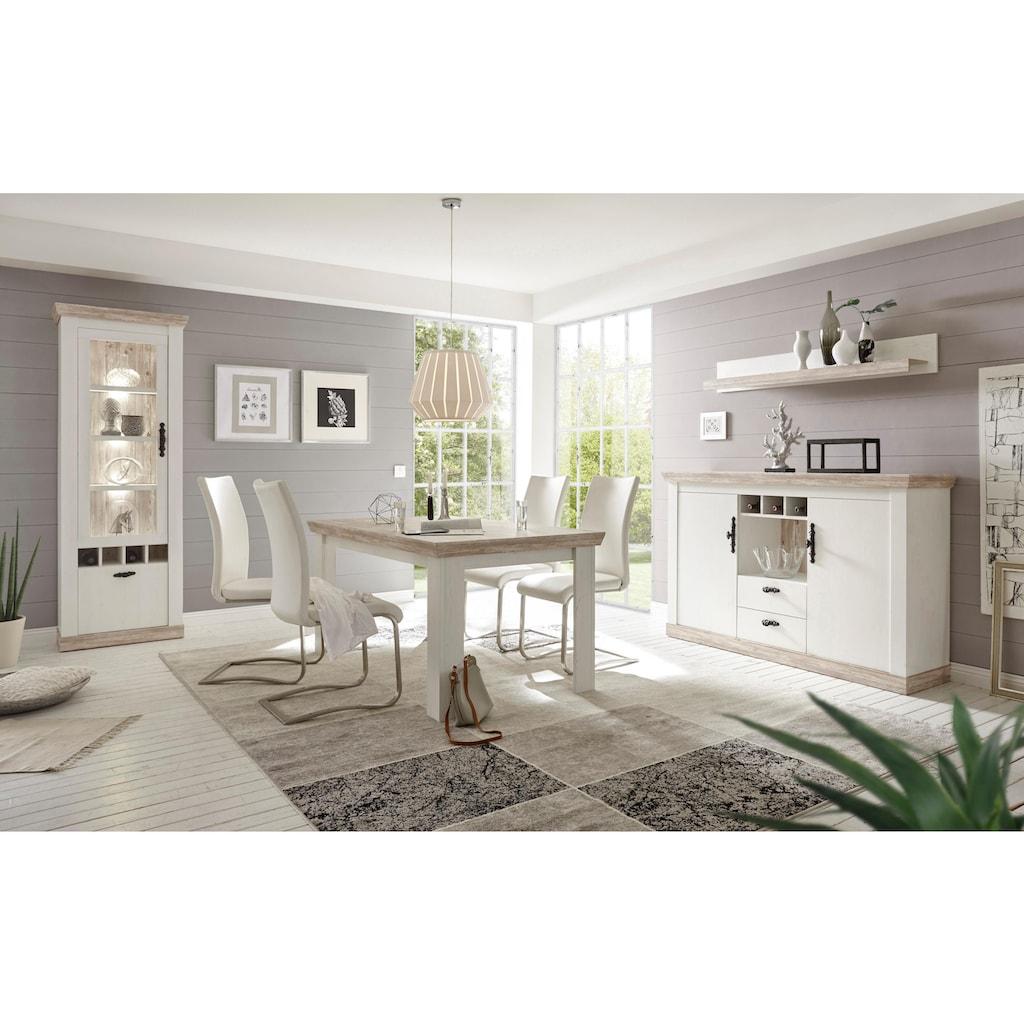 Home affaire Sideboard »Florenz«, im romantischen Landhaus-Look, Breite 168 cm