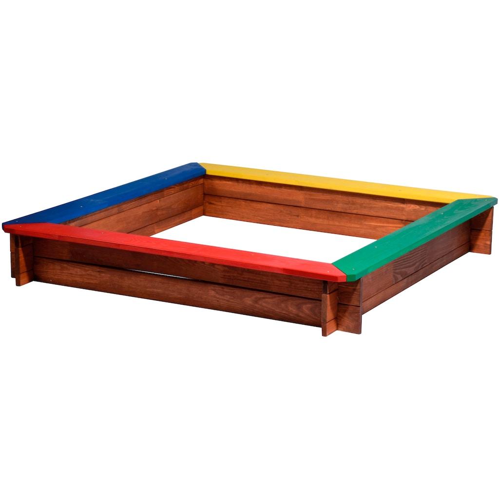 dobar Sandkasten »XL«, BxLxH: 117x117x18 cm