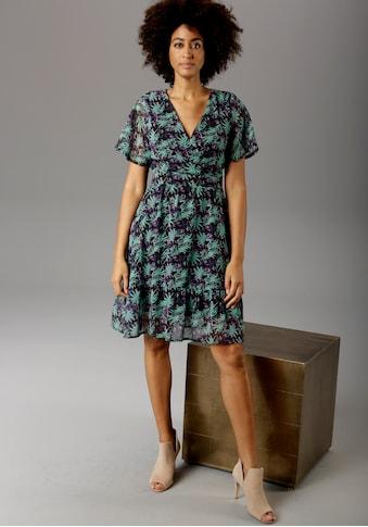 Aniston CASUAL Sommerkleid, mit V-Ausschnitt in Wickeloptik - NEUE KOLLEKTION kaufen