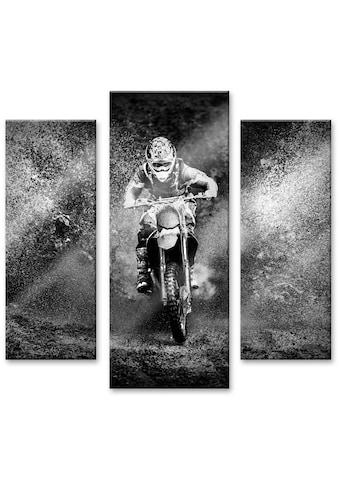 Wall-Art Mehrteilige Bilder »Motor Cross Bike (3-teilig)«, (Set, 3 St.) kaufen