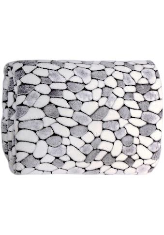 Delindo Lifestyle Wohndecke »Stone«, kuschelig weiche Coral Fleece Decke in Steinoptik kaufen