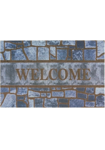 DELAVITA Fußmatte »Welcome blue«, rechteckig, 6 mm Höhe, Schmutzmatte, mit Spruch, In-... kaufen