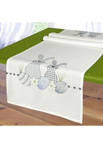 Delindo Lifestyle Tischläufer »Osterhäschen«, Strukturgewebe, bedruckt kaufen