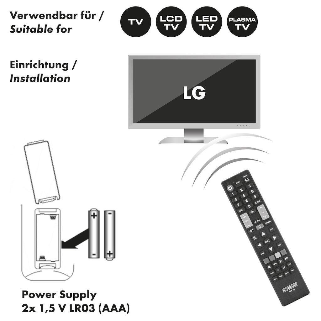 Schwaiger Ersatzfernbedienung für alle LG TV-Geräte (LCD, LED, PLASMA)