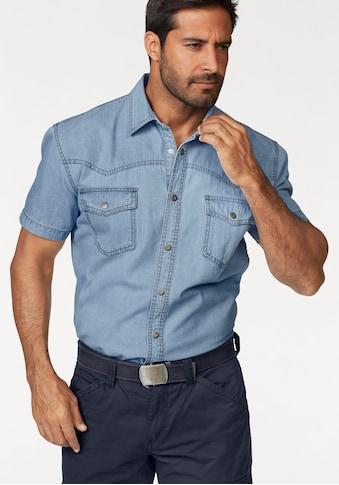 Arizona Jeanshemd, Kurzarm im Western Stil kaufen