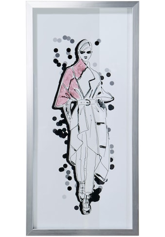 Guido Maria Kretschmer Home&Living Bild »Mode - Skizze«, mit silbernem Rahmen, 23/50 cm kaufen