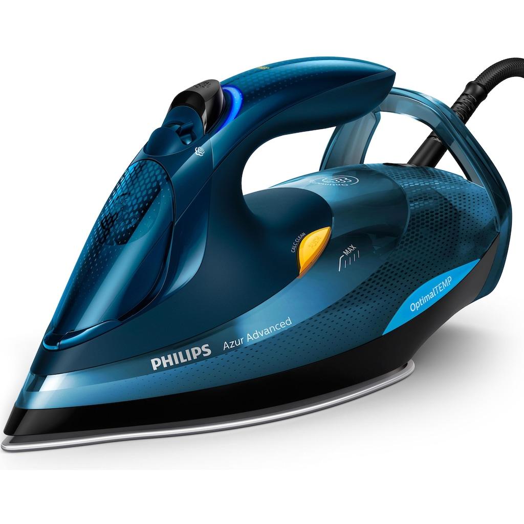 Philips Dampfbügeleisen »GC4937/20 Azur Advanced«, 3000 W, (240g Dampfstoß, OptimalTEMP, Calc-Clean-System) blau