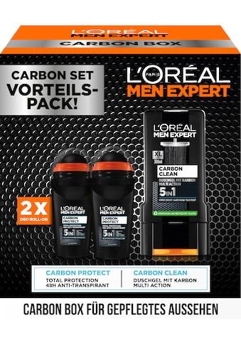 L'ORÉAL PARIS MEN EXPERT Deo-Set »Carbon Box mit Deo + Duschgel«, (3 tlg.) kaufen