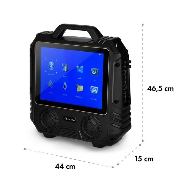 Auna Mobiler Karaoke Lautsprecher Karaokeanlage Display Mikrofon 30W »CenterStage 4«