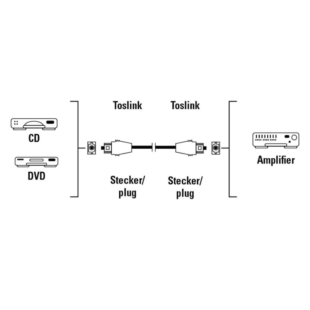 Hama Audio-Kabel, Toslink, Toslink, 150 cm, ODT-Stecker (Toslink), 1,5 m