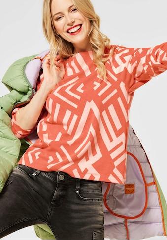 STREET ONE Langarmshirt, mit Allover-Muster kaufen