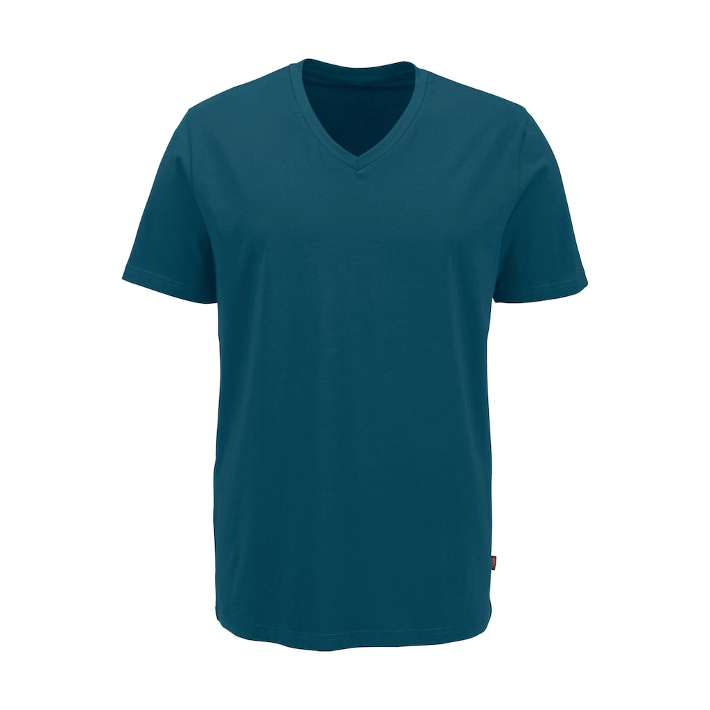 Bruno Banani T-Shirt, mit V-Ausschnitt, perfekte Passform, aus elastischer Baumwolle