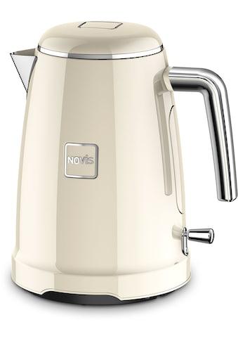 NOVIS Wasserkocher »K1 creme«, 1,6 l, 2400 W, Metallgehäuse kaufen