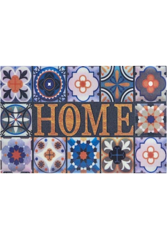 Home affaire Fußmatte »Home Kacheln«, rechteckig, 6 mm Höhe, Schmutzmatte, mit Spruch,... kaufen