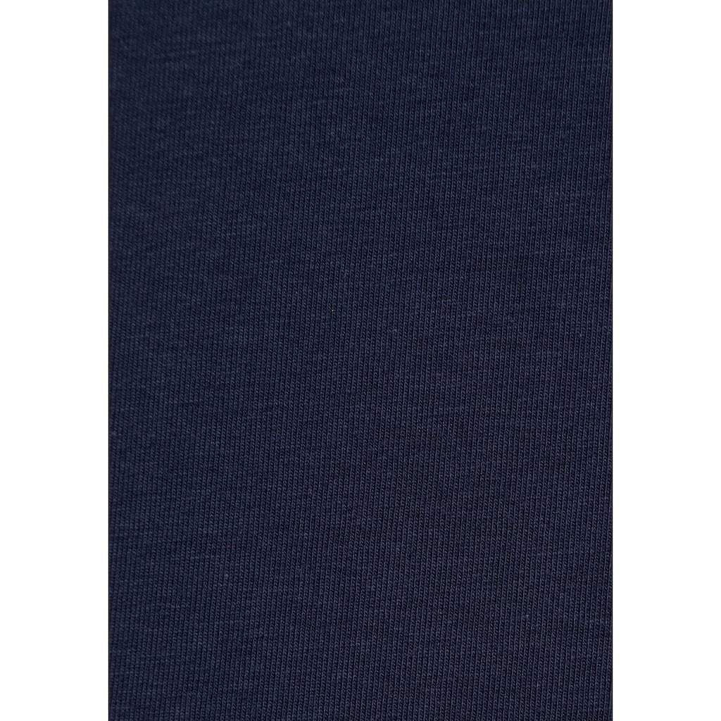 AJC Langarmshirt, mit Puffärmeln und Glitzerknöpfe am Bündchen