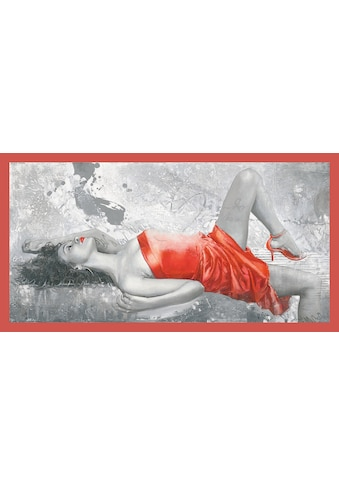 my home Kunstdruck »ENRICO SESTILLO - Lady in red«, mit Rahmen kaufen