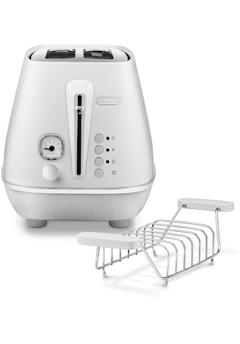 De'Longhi Toaster »Distinta Moments CTIN 2103.W – Sunrise White«, 2 kurze Schlitze, für 2 Scheiben, 900 W kaufen