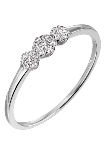 Firetti Diamantring »ca. 1,5 mm breit, Glanzoptik, teilw. rhodiniert, massiv«, mit Brillanten kaufen