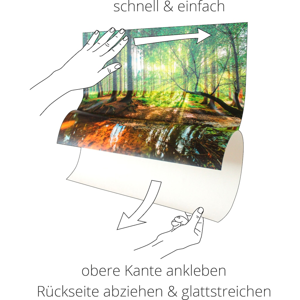 Artland Wandbild »Cappuccino - Kaffee«, Getränke, (1 St.), in vielen Größen & Produktarten - Alubild / Outdoorbild für den Außenbereich, Leinwandbild, Poster, Wandaufkleber / Wandtattoo auch für Badezimmer geeignet
