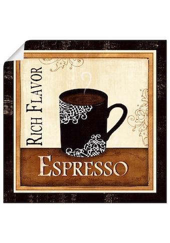 Artland Wandbild »Kaffee und Sahne III«, Getränke, (1 St.), in vielen Größen &... kaufen