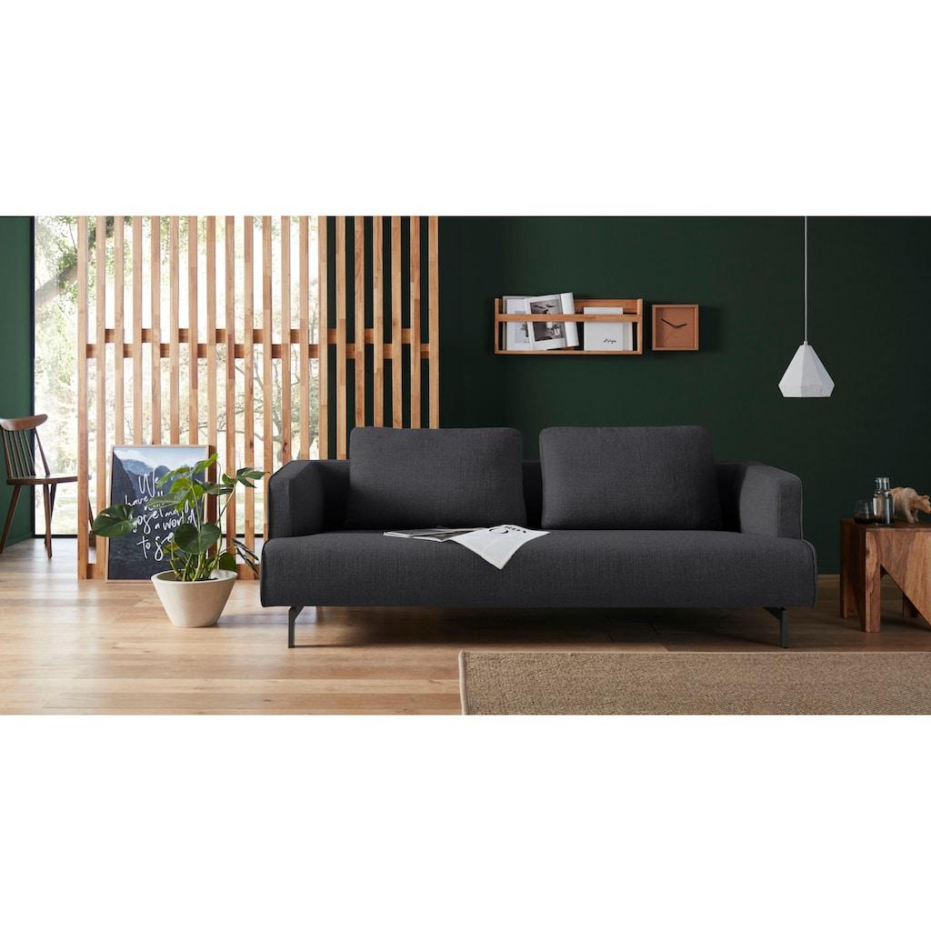 hülsta sofa 4-Sitzer »hs.440«, wahlweise in Stoff oder Leder, Spangenfüße umbragrau