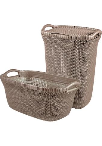 Curver Wäschekorb »Knit«, und Wäschesammler dunkelbraun kaufen
