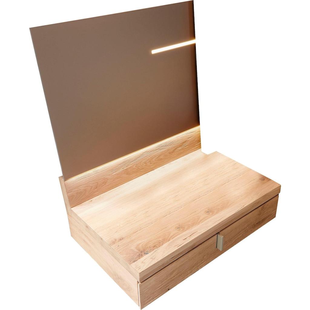 THIELEMEYER® Wandpaneel »Cubo«, mit Schublade und dimmbarer LED-Beleuchtung