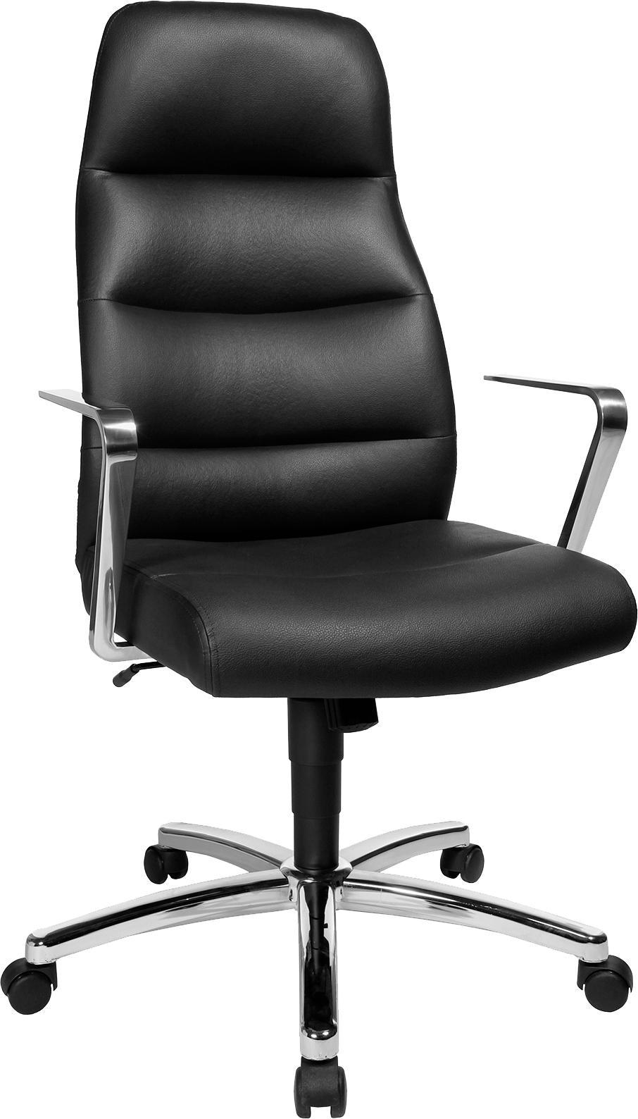 Topstar Chairman® 70 Chefsessel hellbraun//chrom Drehstuhl Bürosessel