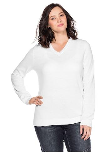 Sheego V-Ausschnitt-Pullover, aus Feinstrick kaufen