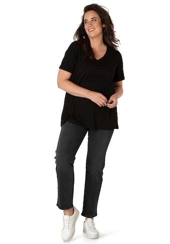 BSIC by Yesta T-Shirt »Alba«, Mit dekorativen Aufschlag am Ärmel und am Saum leicht... kaufen