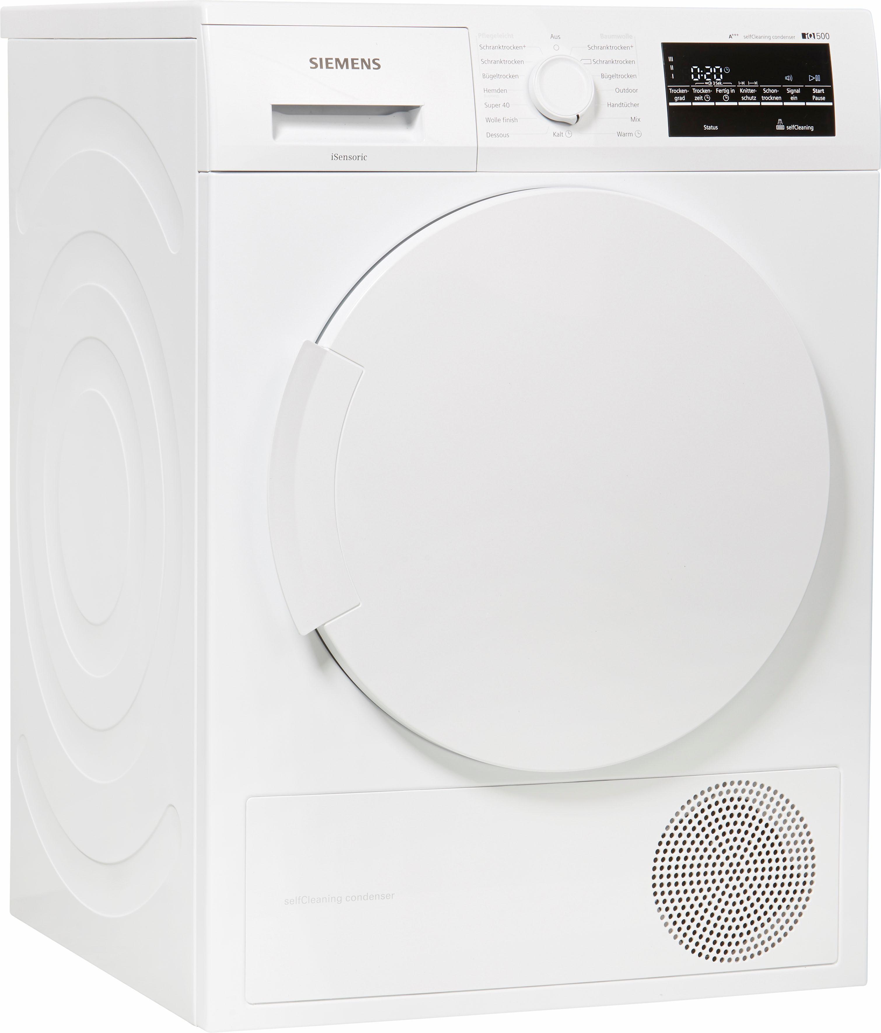 SIEMENS Wärmepumpentrockner WT45W463, 7 kg | Bad > Waschmaschinen und Trockner > Wärmepumpentrockner | Weiß | SIEMENS