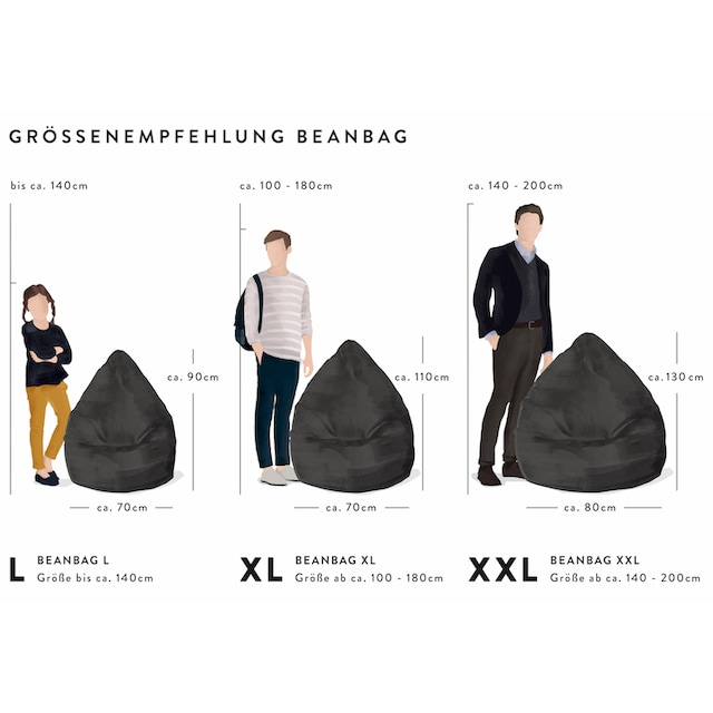 Sitting Point Sitzsack »EASY XXL«