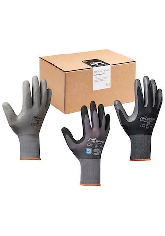 Gebol Arbeitshandschuh-Set »Werkstatt«, (13), 12 Paar Handschuhe und 1 Schutzbrille kaufen