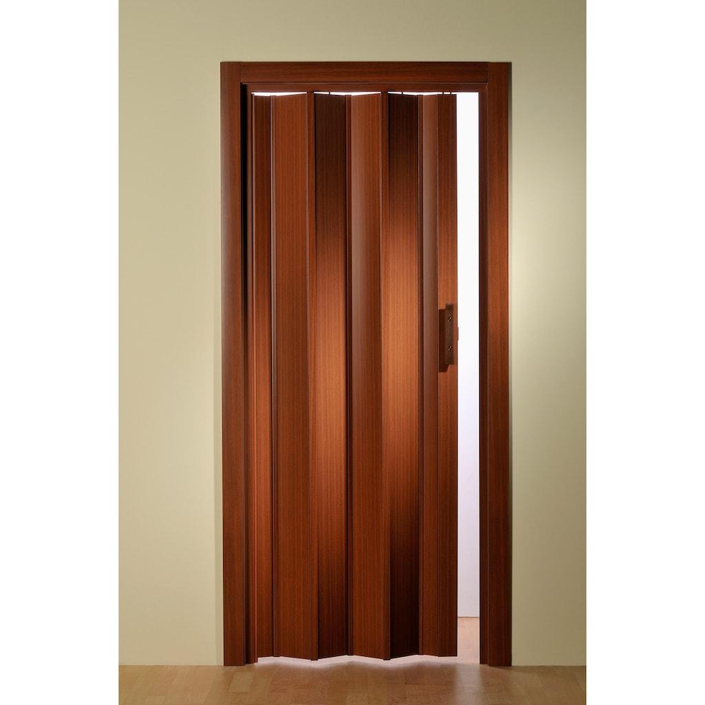 Falttür, Höhe nach Maß, Mahagoni ohne Fenster