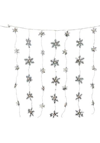 LED-Lichterkette »Schneeflocken - Eiskristalle«, Breite 120 cm kaufen