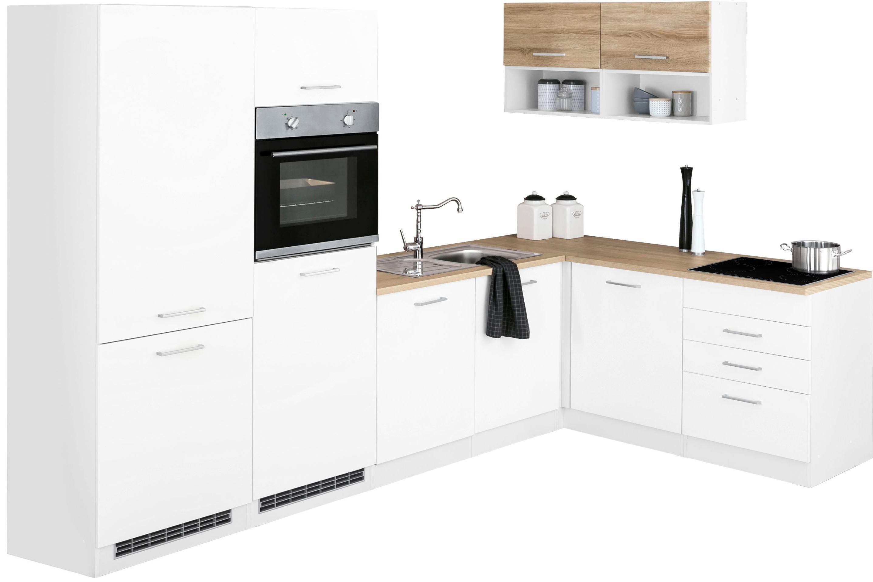HELD MÖBEL Winkelküche »Visby« | Küche und Esszimmer > Küchen > Winkelküchen | Weiß | HELD MÖBEL