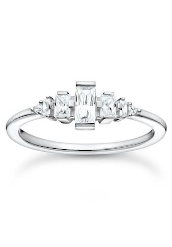 THOMAS SABO Fingerring »weiße Steine, TR2347-051-14-50,52,54,56,58,60,... kaufen