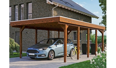 Skanholz Einzelcarport »Friesland«, Fichtenholz, 355 cm, braun kaufen