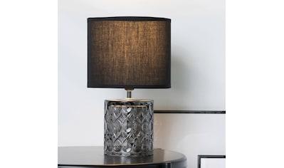 Pauleen Tischleuchte »Crystal Glow«, E14, Stoffschirm, Schwarz, Grau, Glas kaufen